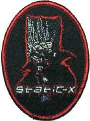 Static-X Iron-On Patch Oval Cartoon Logo