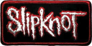 Slipknot Iron-On Patch Rectangle Letters Logo