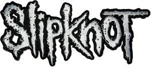 Slipknot Iron-On Patch Silver Letters Logo