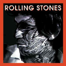 Rolling Stones Iron-On Patch Keith Richards Tattoo