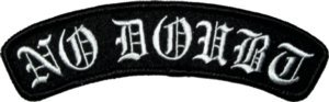 No Doubt Iron-On Patch Olde English Logo
