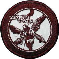 Linkin Park Iron-On Patch Red Soldier Logo