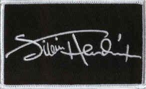 Jimi Hendrix Iron-On Patch Signature Logo