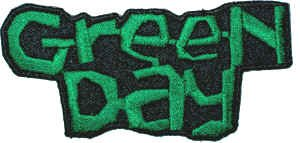 Green Day Iron-On Patch Green Letters Logo