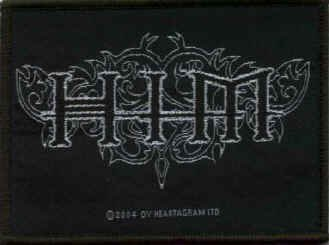 HIM Iron-On Patch Ornate Letters Logo