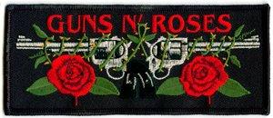 Guns n' Roses Iron-On Patch Rectangle Logo