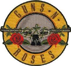 Guns n' Roses Iron-On Patch Circle Bullet Logo
