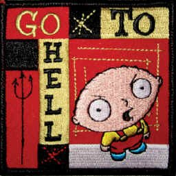 Family Guy Iron-On Patch Stewie Go to Hell