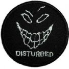 Disturbed Iron-On Patch Face Logo