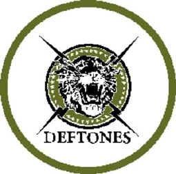 Deftones Iron-On Patch Circle Tiger Logo