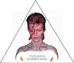 David Bowie Iron-On Patch Alladin Sane Logo