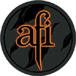 AFI Iron-On Patch Glow Letters Logo