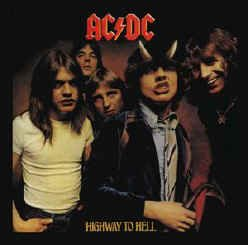 AC/DC Iron-On Patch Highway to Hell Logo