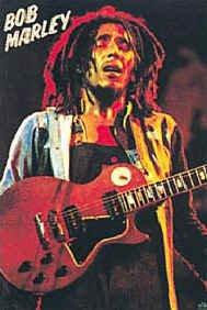 Bob Marley Poster Flag Red Guitar Live Tapestry