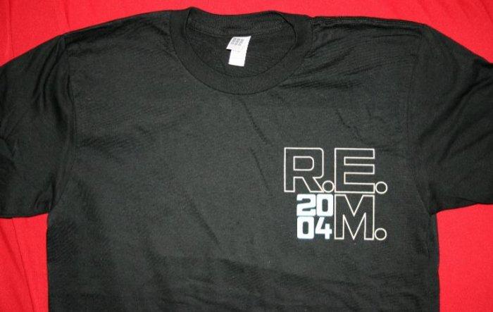 REM T-Shirt 2004 Tour Black Size XL