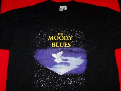 Moody Blues T-Shirt World Tour 2004 Black Size Large