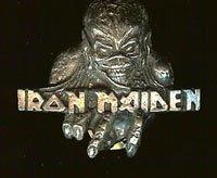 Iron Maiden Metal Lapel Pin Eddie Skull Logo