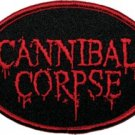Cannibal Corpse Iron-On Patch Oval Blood Letters Logo