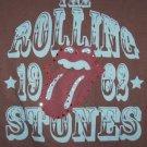 Rolling Stones Babydoll T-Shirt Tongue Logo Brown Large
