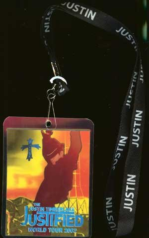 Justin Timberlake Justified Lanyard and Tour Pass New