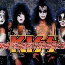 Kiss Vinyl Sticker No Substitutes Group Photo New
