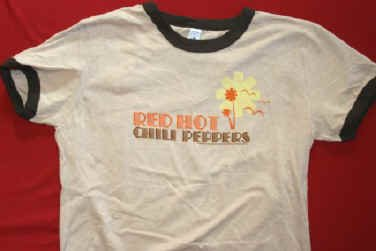 Red Hot Chili Peppers Babydoll Ringer T-Shirt Large