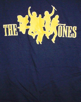 The Ones T-Shirt Yellow Logo Navy Blue Size Small New