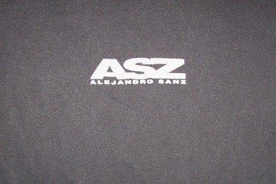 Alejandro Sanz T-Shirt ASZ Logo Gray Size XL Latin New