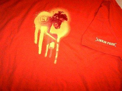 Linkin Park T-Shirt Meteora Logo Orange Size XL New