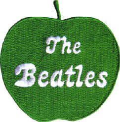 The Beatles Iron-On Patch Green Apple Logo New