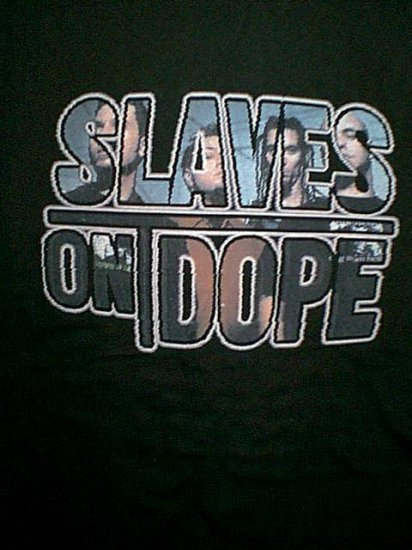 Slaves on Dope T-Shirt Ones You See on TV Black Large