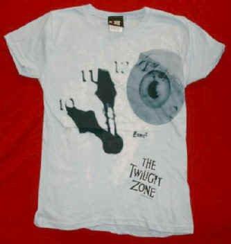 Twilight Zone Babydoll T-Shirt Blue Size Large New