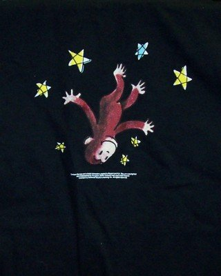Curious George T-Shirt Lost in Space Black Youth Small