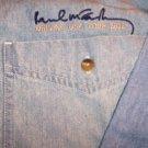 Paul McCartney Long Sleeve Denim Shirt Small US Tour