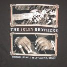 Isley Brothers T-Shirt Guitar Logo Brown Medium New