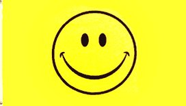 Smiley Face Yellow Flag  3' x 5' Happy Face New