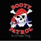 Pirate Booty Patrol Flag Black 3' x 5' New