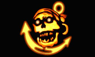 Pirate Skull Anchor Flag Black 3' x 5' New