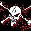 Pirate Blood Skull Flag Black 3' x 5' New