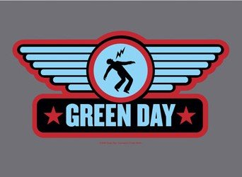 Green Day Poster Flag Wings Logo Tapestry