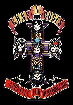 Guns n' Roses Poster Flag Appetite for Destruction