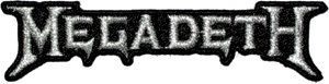Megadeth Iron-On Patch Silver Letters Logo