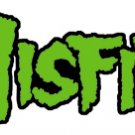 Misfits Iron-On Patch Green Letters Logo