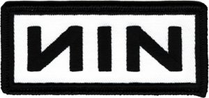 Nine Inch Nails Iron-On Patch NIN Black Logo