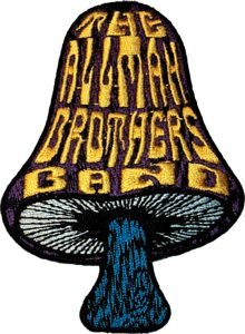 Allman Brothers Iron-On Patch Mushroom Logo