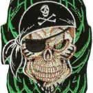 Pirate Skull Iron-On Patch