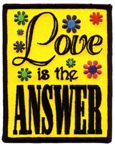 Love Is The Answer Iron-On Patch