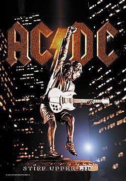 AC/DC Poster Flag Stiff Upper Lip Logo Tapestry