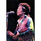 Jimi Hendrix Poster Flag Color Photo Live Singing
