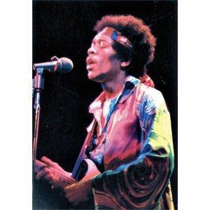 Jimi Hendrix Poster Flag Color Photo Live Singing